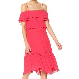 Hailstones heritage red off the shoulder dress NWT